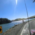 Fahrt über Otago Peninsula