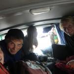 gequetscht zu elft im Van!!!