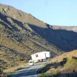 zurück ins Inland - unterwegs V: Haustransport über den Lindis Pass