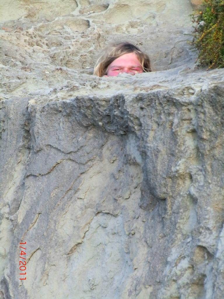 da steckt jemand im Stein