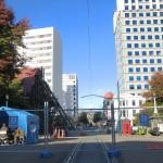 Christchurch nach dem Februar-Beben: in Richtung Square und Kathedrale