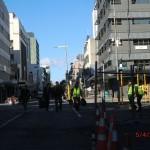 Christchurch nach dem Februar-Beben: sicher nur mit Sondererlaubnis - Besitztümer heraus holen