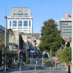 Christchurch nach dem Februar-Beben: Grand Chancellor Hotel, wird wahrscheinlich noch abgeriss,en