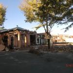Christchurch nach dem Februar-Beben: durch eine Zaunlücke