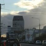 Christchurch nach dem Februar-Beben: Grand Chancellor, die linke Seite hängt tiefer