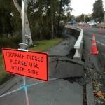 Christchurch nach dem Februar-Beben: gesperrte Gehwege