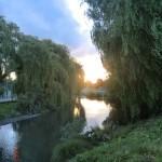 Christchurch nach dem Februar-Beben: Abendhimmel überm Avon River