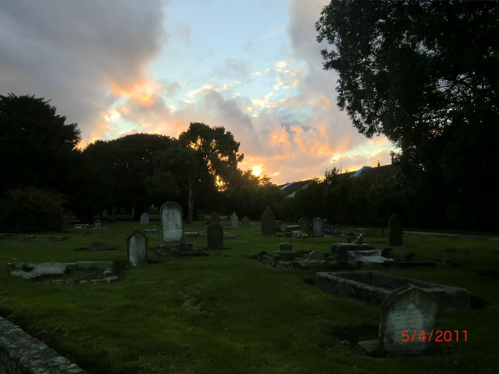 Christchurch nach dem Februar-Beben: merkwürdig anzusehen mit diesem schönen Abendhimmel