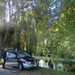 unser Schlafplatz am trüben Avon River