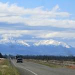in Richtung Kaikoura über die alpine Strecke