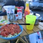 unser letztes Südinsel-Dinner: Wurtsgulasch
