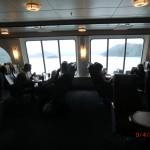 große Fenster der Bluebride-Fähre