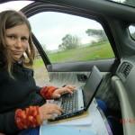 ... und beim Bloggen im Auto (Oh Gott)