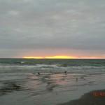 Sonnenuntergang an der Kapiti Coast nahe Paekakariki IV