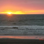 Sonnenuntergang an der Kapiti Coast nahe Paekakariki VI