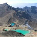 Blick nach vorn (vom Red Crater): die türkisen Emerald Lakes