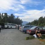 Juhu, der Parkplatz (ca. 750m) ist erreicht!!! nach 19,4km und 8h - Wir haben es geschafft!