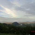 wir verlassen den Tongariro Nationalpark (Lookout über Lake Taupo Region)