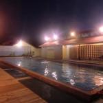"""warmer """"Privat""""pool unter Sternenhimmel nach unserem härtesten Walk - eine Wohltat :-)"""