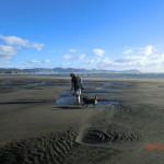 Te Puia Hot Springs Strand: Wolfi und Hund