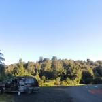 unser abgelegener Schlafplatz nahe den Bridal Veil Falls