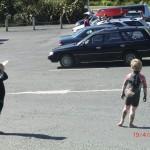 aufm Parkplatz an Raglans Surf-Strand