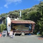 aufm Parkplatz an Raglans Surf-Strand II