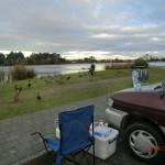 am Hamilton Lake: letztes Dinner mit Joy