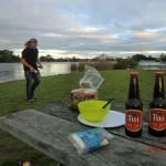 am Hamilton Lake: letztes Dinner mit Joy II