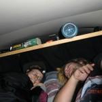 vorletzte Nacht in der blinkenden, leeren Joy (vor City Garden Lodge): So schliefen wir sieben Monate :-)