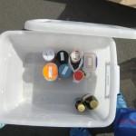 Essensbox für Christina (alles frisch geputzt und beschriftet)
