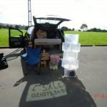 Joy 4 Sale (man beachte den Schatten): alle Boxen leer für den neuen Besitzer :-(