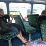 Tja, wir nun zu Fuß und per Bus mit Rucksack... :-(
