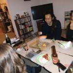 am Abend bei Tomomi und Amy: zu Gast in deren neuen Haus in Auckland - das war echt schön!!!