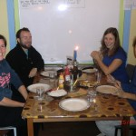 schöner Koch-Back-Regentag mit Katja-Kerstin, Anne und Deniz: edles Dinner in netter Runde :-)