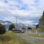 von Wanaka an die West Coast, Wäschetrocknungsversuch unterwegs