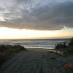 Haast Beach in der Dämmerung