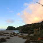 Ship Creek Strand in der Abendsonne