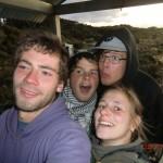 wir auf einem Aussichtsturm am Ship Creek Strand