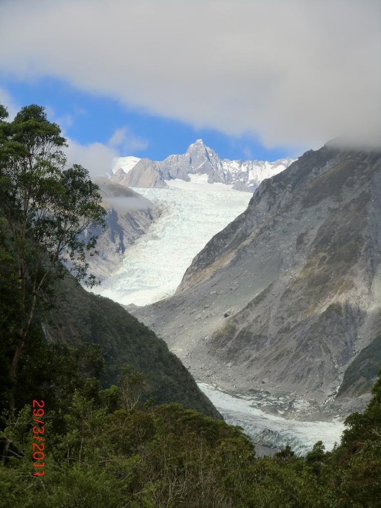 erster Blick auf den Fox Gletscher