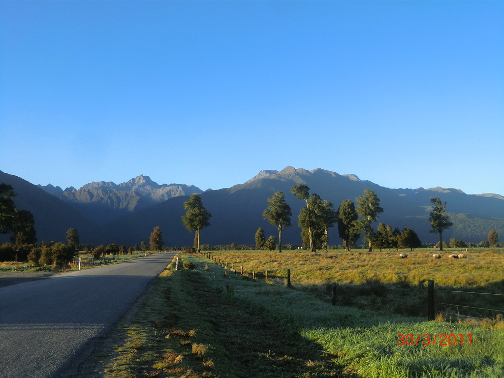 und Alpenvorland am nächsten Morgen