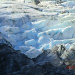 blaues Gletschereis (gezoomt)
