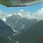 Fox Gletscher und Alpen von oben