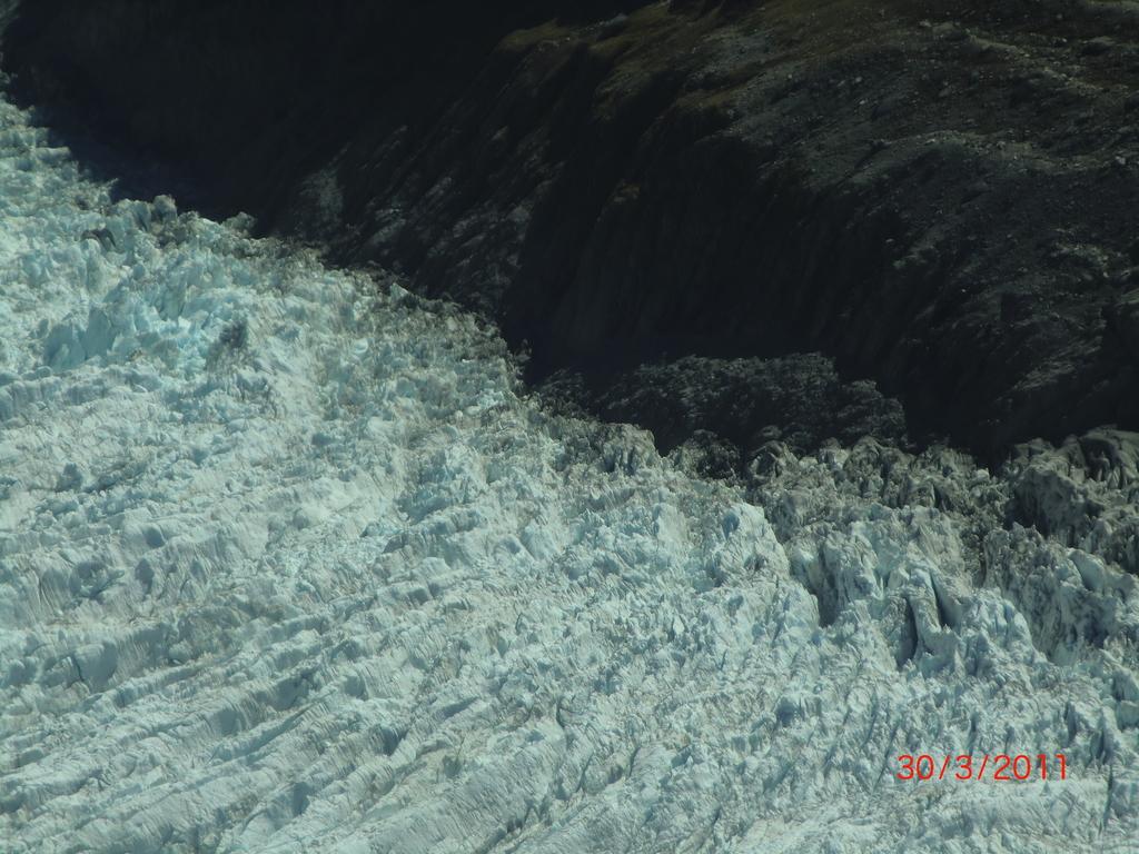 Flugzeugaussichten: Gletscherformationen