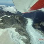 Flugzeugaussichten: Fox Gletscherzunge