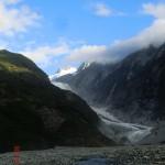 Franz Josef Gletscher mit Gletscherfluss