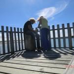 Okarito Lagoon: wir am Bootshaus