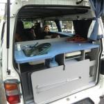 Küche im Backpacker-Van