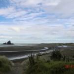 traumhafter Whatipu Beach am Vormittag