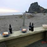 Abschiedsdinner am Piha Beach